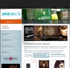 """Site du Salon de coiffure """"Apparence juste pour soi"""""""