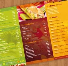 """Carte de menu """"Au ptit Creux"""""""